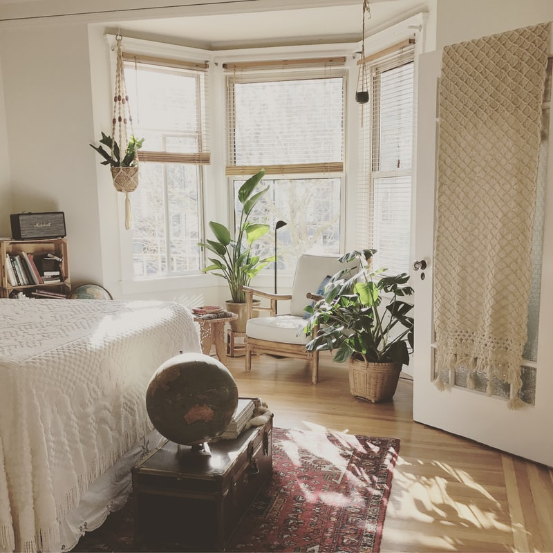 studio apartment bedroom