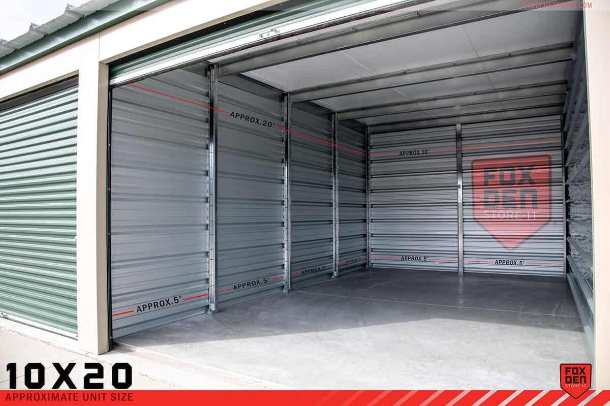 10´ x 20´ Self-Storage Unit Rentals - Monthly Rate $85 & ATV or Snowmobile Storage Unit | Rapid City SD