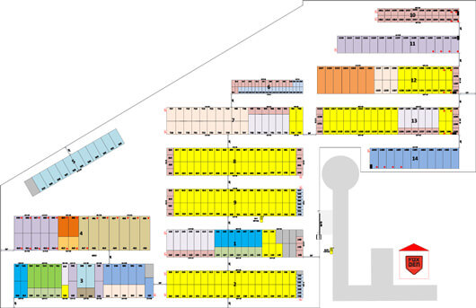 layout of storage units on Highway 14 in Janesville, WI