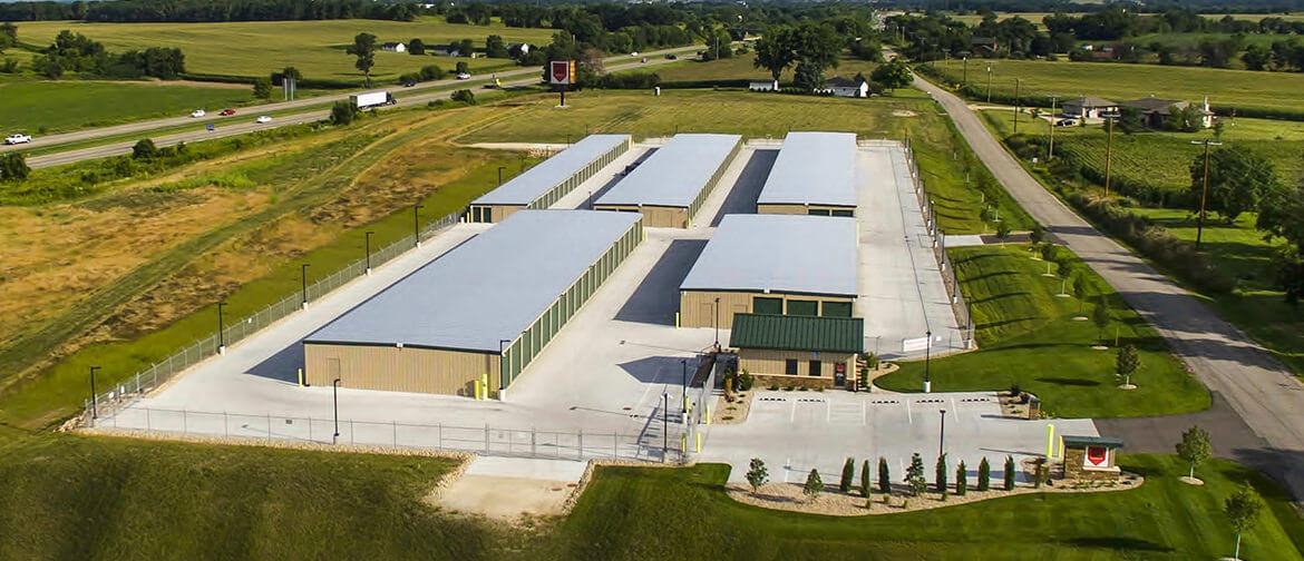 Newville Storage Overhead View